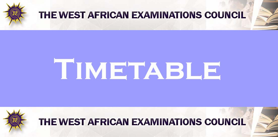 WEAC TIME TABLE 2020 FREE DOWNLOAD